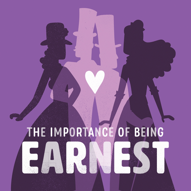 The Importance of Being Earnest artwork/logo